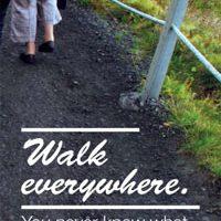 Life lesson: walk everywhere