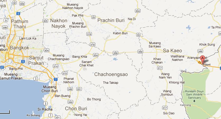 Thai/Cambodia border crossing