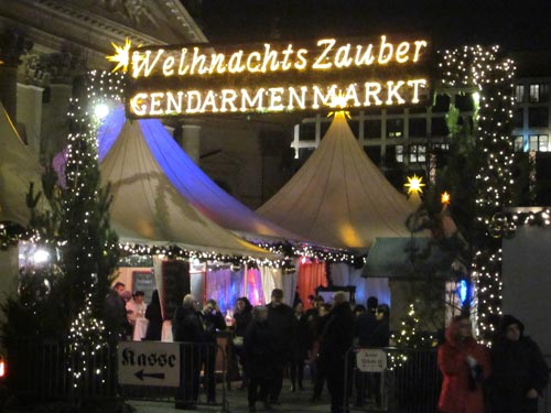 Berlin winter: Weihnachtsmarkt at Berlin's Gendarmenmarkt