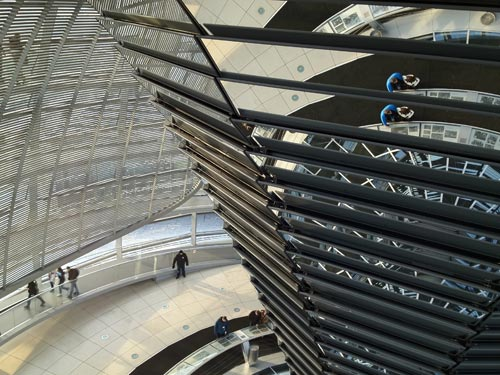 Inside the German Reichstag dome