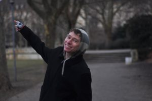 Adam playing tour guide in Berlin