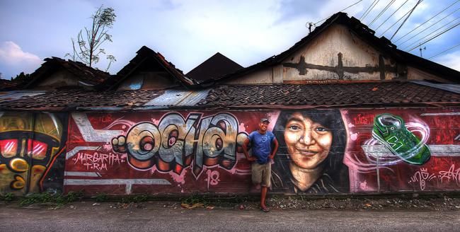 Graffiti in Yogyakarta, Indonesia