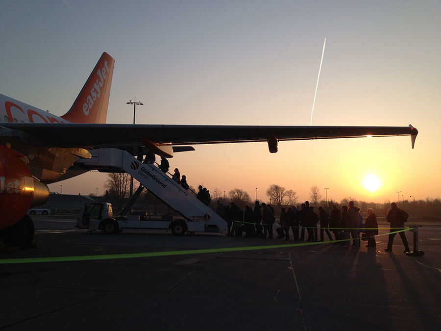 Early morning easyJet flight