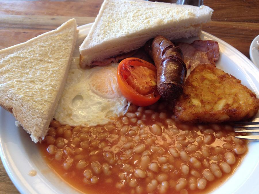 English breakfast in Brighton