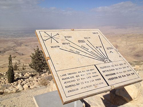 Map at Mount Nebo