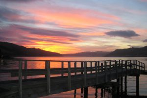 Sunset in Dunedin, New Zealand