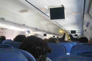inside an airplane