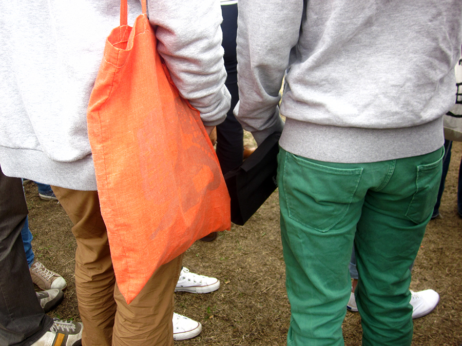 hipster fashion - orange & green