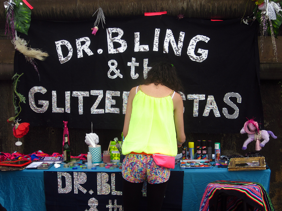 bling bling - glitter stand at berlin hipster olympics