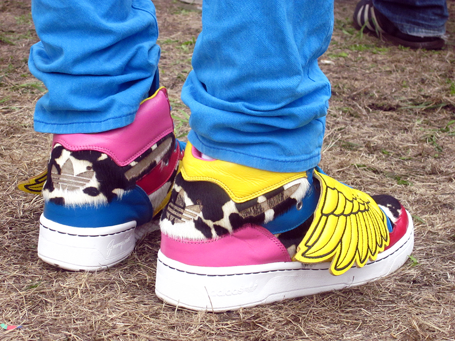 hipster neon shoes