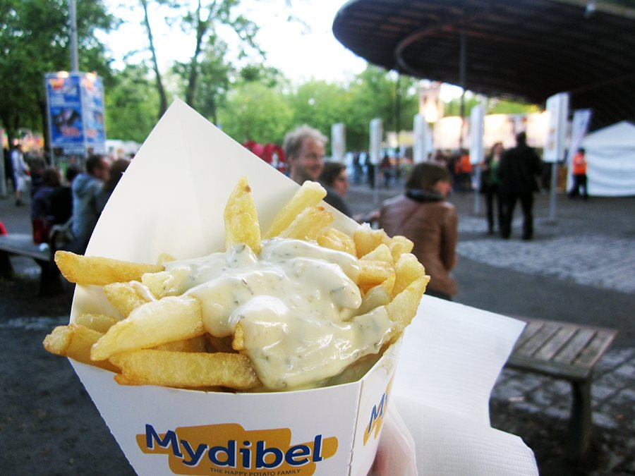 Belgian Frites at the festival!