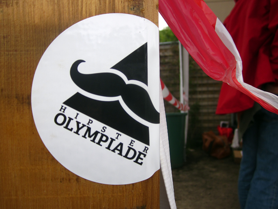 Hipster Olympiade sticker