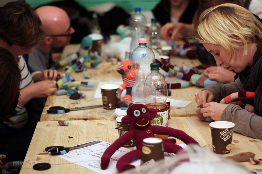 DIY sock monkey Etsy event