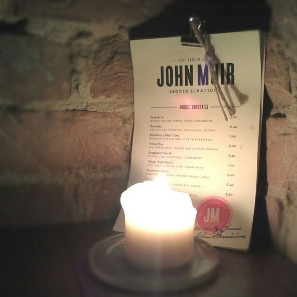 John Muir Berlin bar