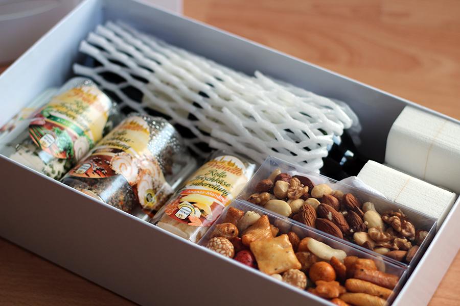 wine/cheese gift box