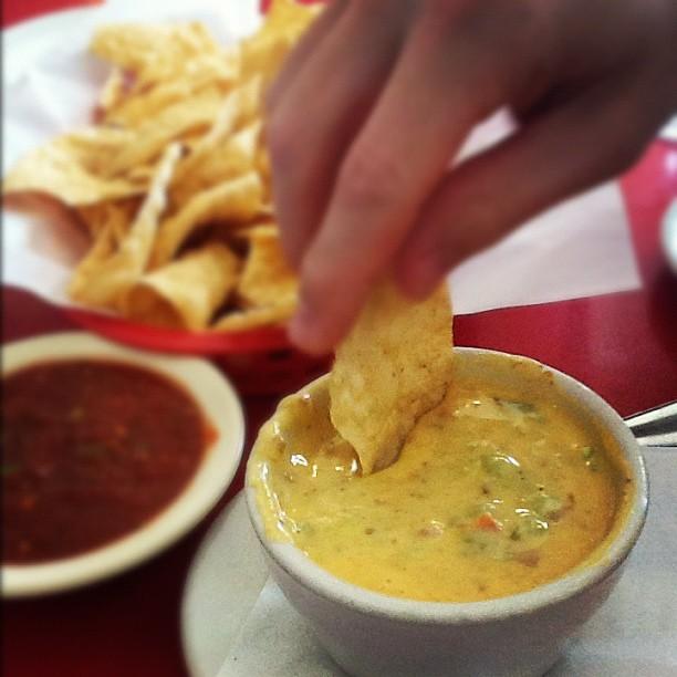 nachos & queso in Texas
