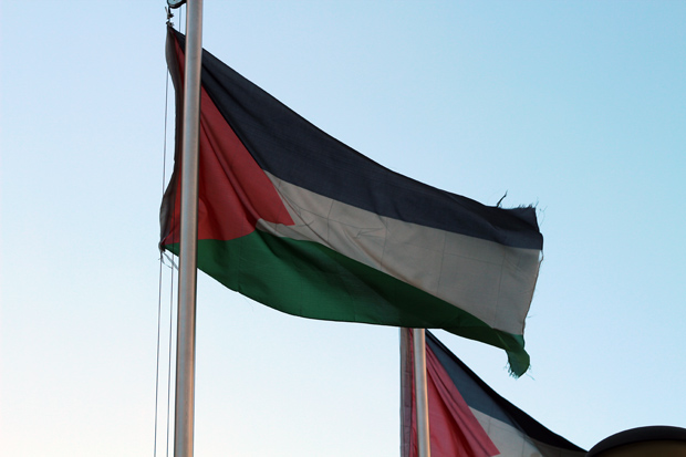 Palestine Flag in Nablus