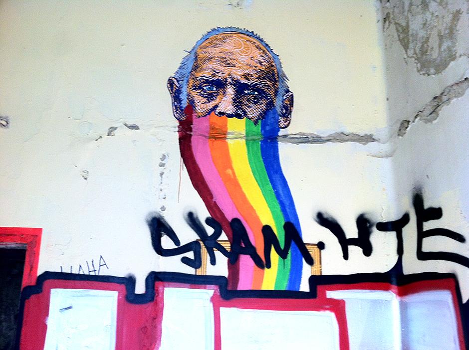abandoned berlin hospital graffiti