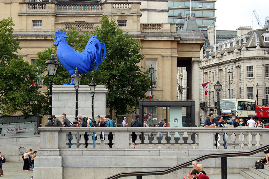 the fourth plinth of trafalgar square Photo of the big blue cock by katharina fritsch at trafalgar square's fourth plinth - london's most interesting public art space.