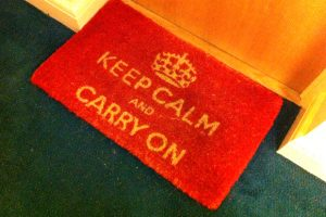 Keep Calm London floormat