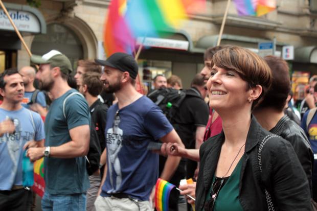 gay pride demo