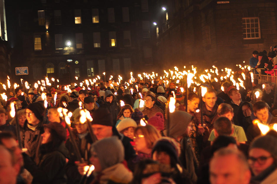 Edinburgh Torchlight Procession