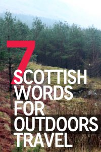 Scottish Words for Outdoors Travel