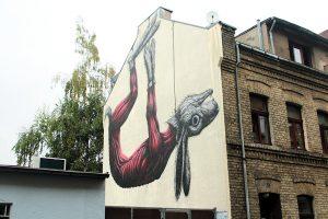 ROA street art in Cologne