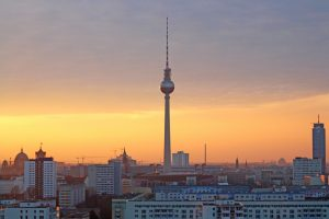 Berlin at sunset