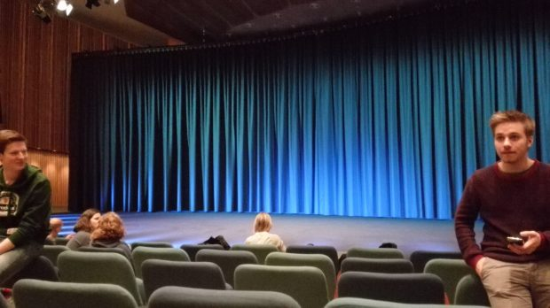 Inside the Haus der Kulturen waiting for the premiere