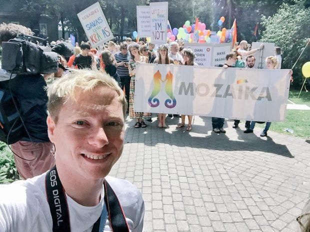 Adam at Riga EuroPride