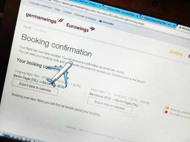 germanwings booking