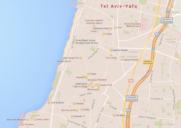 Tel Aviv Google Maps
