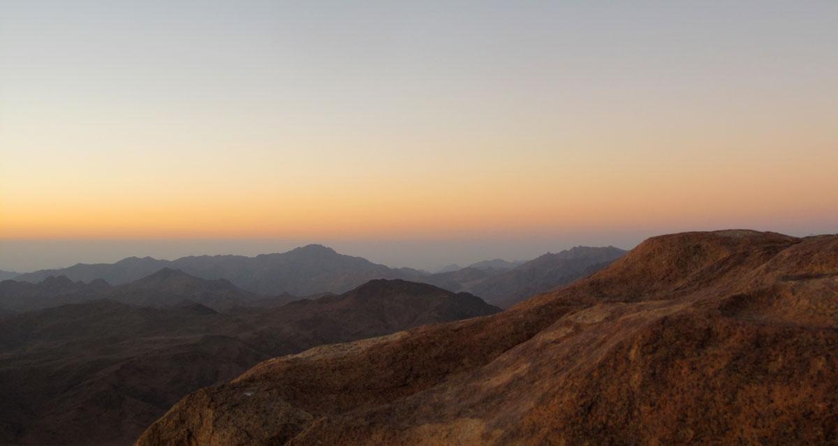 Mount Sinai, Egypt (sunrise)