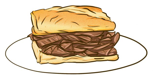 Steak baguette (Nice, France) - Meat & Potatoes - Dishes from 14 Cities Around the World