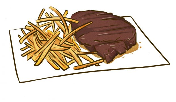 Steak Frites (Brussels) - Meat & Potatoes - Dishes from 14 Cities Around the World