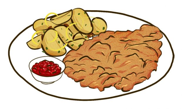 Schnitzel (Vienna) - Meat & Potatoes - Dishes from 14 Cities Around the World