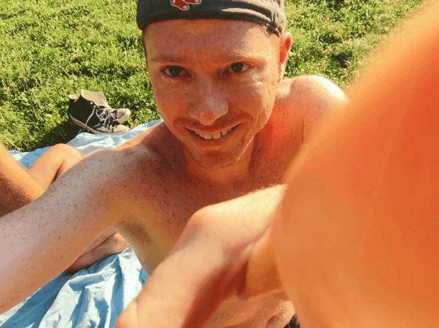 "Instagram Selfie of ""Travels of Adam"" in Berlin park"