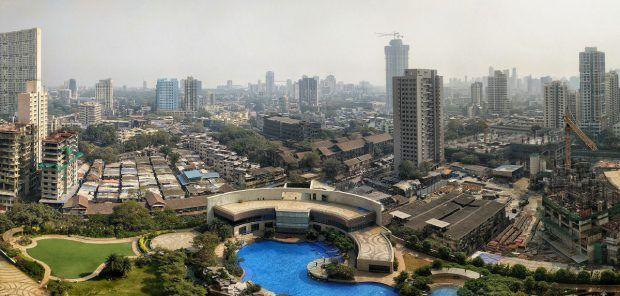 mumbai skyline - rich and poor