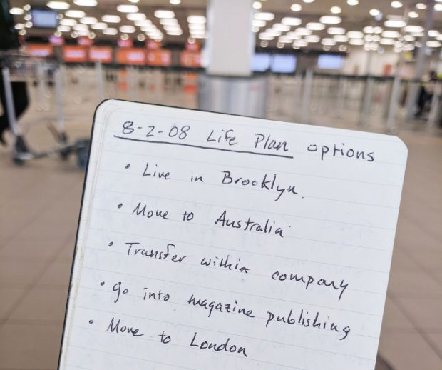 life plan options - journal entry