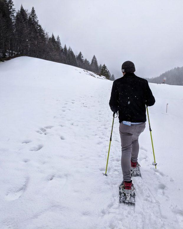 Snowshoeing in Switzerland at Saint-Cergue - Travels of Adam - https://travelsofadam.com/2018/04/snowshoeing-near-geneva/