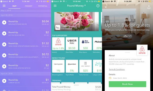 Use Acorns personal finance app to save money