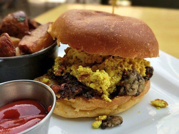 vegan scrapple @ front street cafe