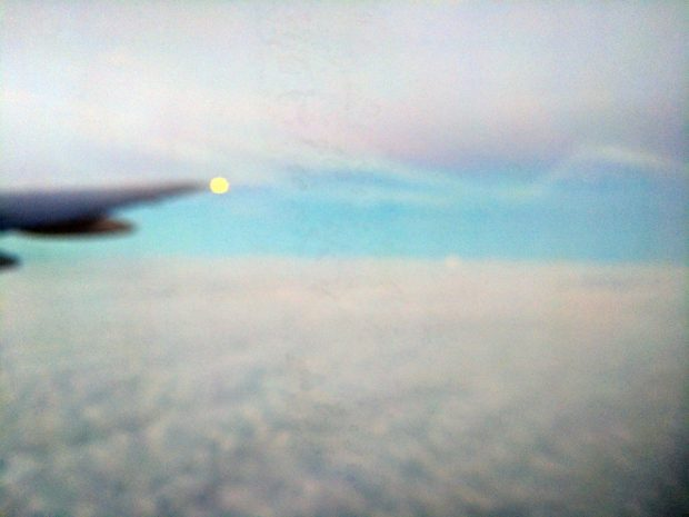 music while flying - clouds are a dreamscape
