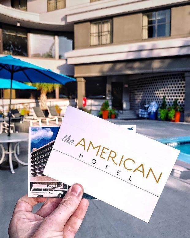 postcard by the pool Hilton American Hotel in Atlanta