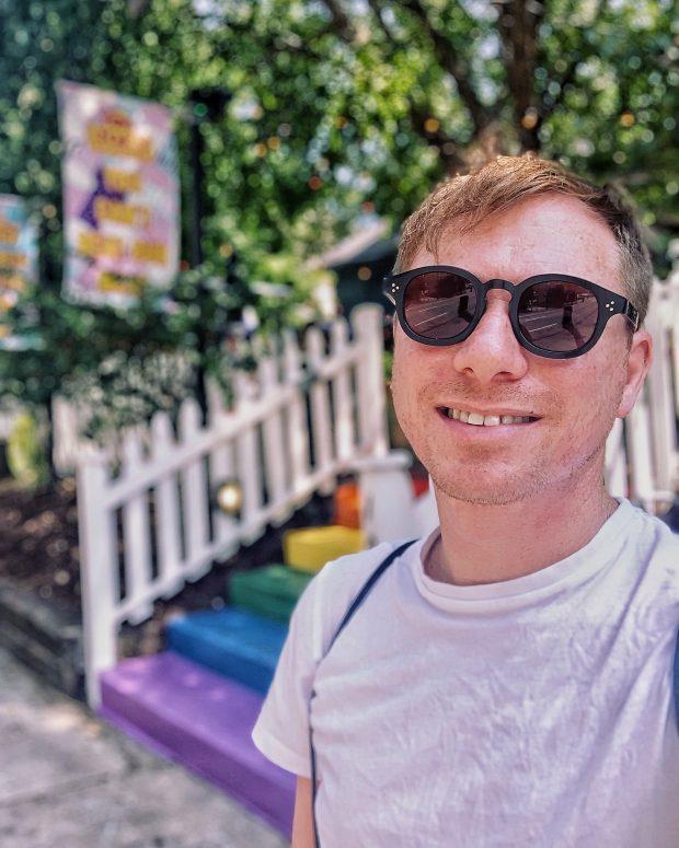 rainbow steps at gay bar in Atlanta