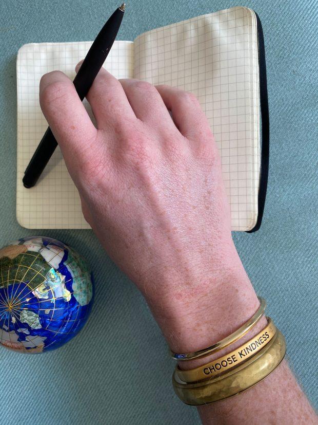 bird + stone (gold bracelet)